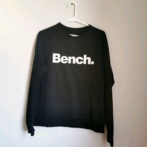 (2/$12) Bench Women's Black Crew Neck Logo Sweater